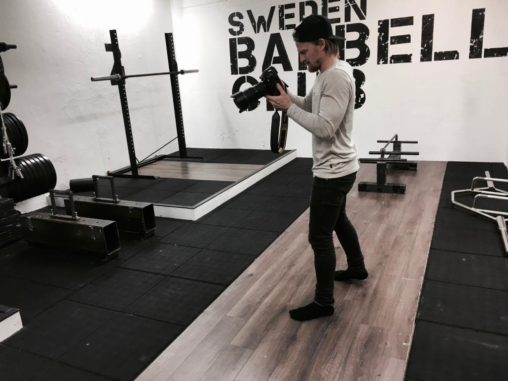 Jimmy Wixtröm fick under gårdagen strunta i träningen och istället arbeta sig svettig.