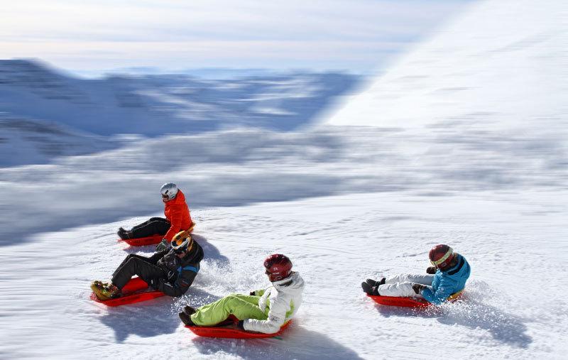 Vänligen stör ej - vi tränar. Bildbax: snowfestival.se