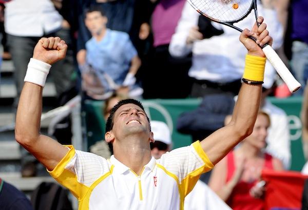 Novak Djokovic krönte sig själv till kung i Monte Carlo efter en rafflande final mot rivalen Rafael Nadal. FOTO: BILDBYRÅN