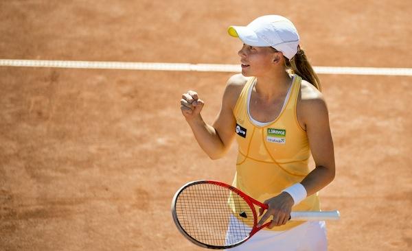 Johanna Larsson är klar för final i Swedish Open i Båstad. FOTO: BILDBYRÅN