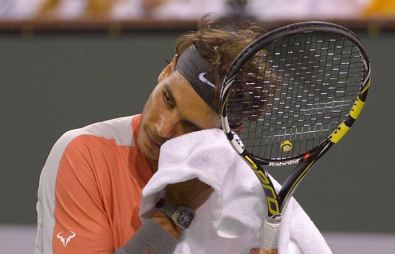 Regerande mästaren Rafael Nadal är redan utslagen ur Indian Wells Masters. FOTO: AP