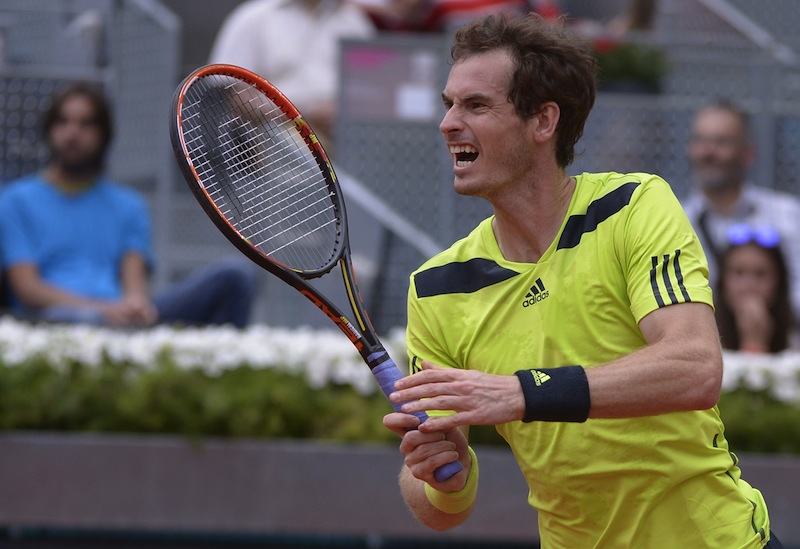 Andy Murray fick bita i gruset i Madrid. FOTO: AP