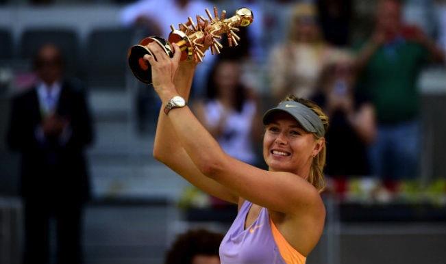 Maria Sjarapova har inte förlorat mot någon annan än Serena Williams sedan Franska öppna 2011.