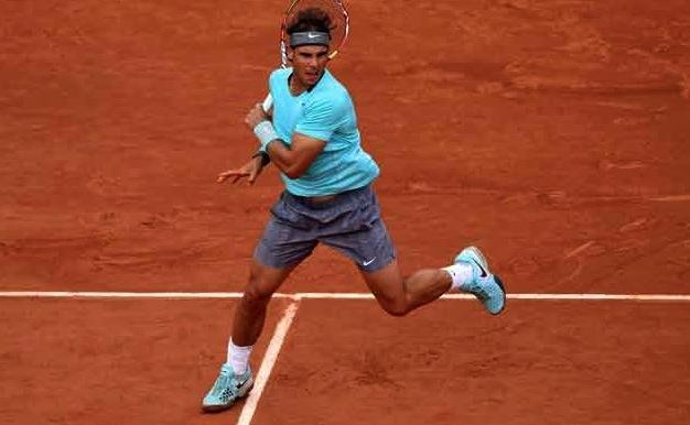 Rafael Nadal ser pigg ut.