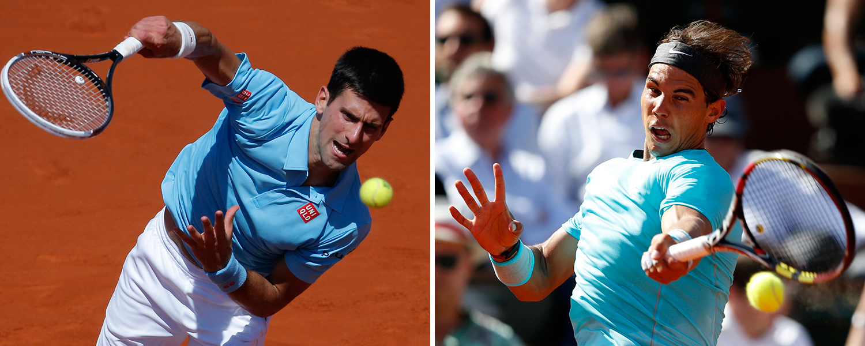 Novak Djokovic och Rafael Nadal möts för 42:a gången. FOTO: AP