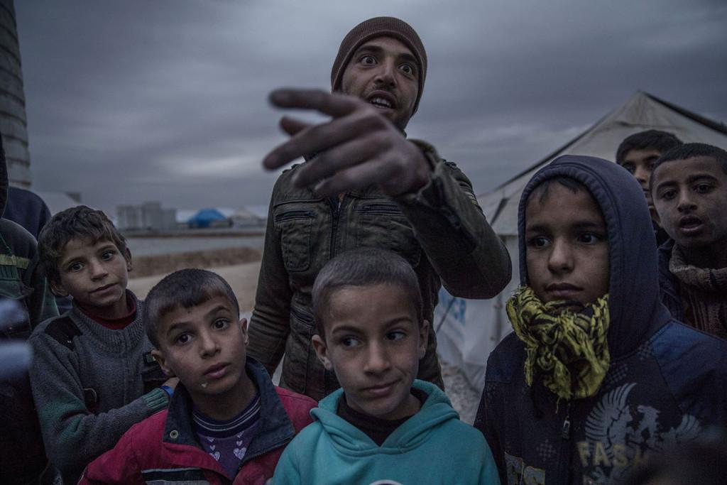 flyktinglägret Hassan Sham en bit utanför Mosul, Irak. Hit kommer flyktingar som tvingats fly undan kriget mellan Irakiska armen och IS