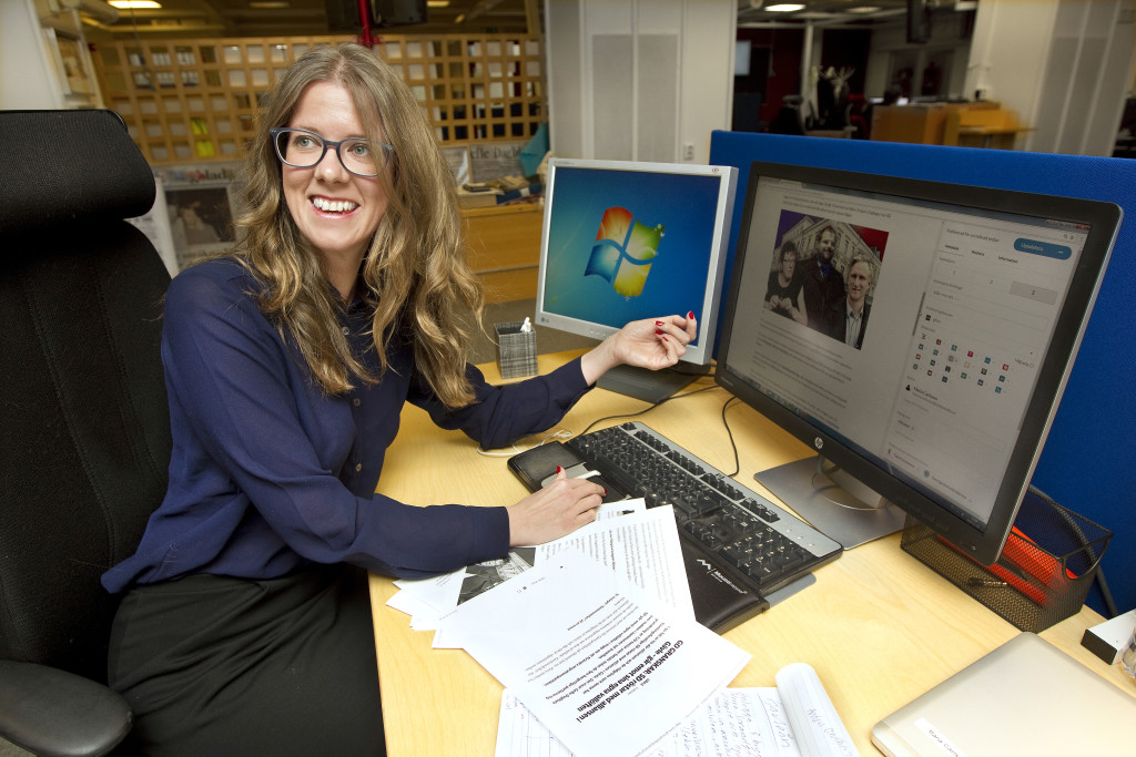 foto : pernilla wahlman : reportage om det politiska lŠget i gŠvle. maria carlsson pŒ gefle dagblad.