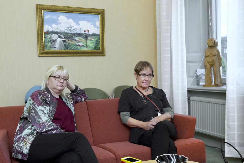 foto : pernilla wahlman : reportage om det politiska lŠget i gŠvle. helene Œkerlind och margaretha wedin.