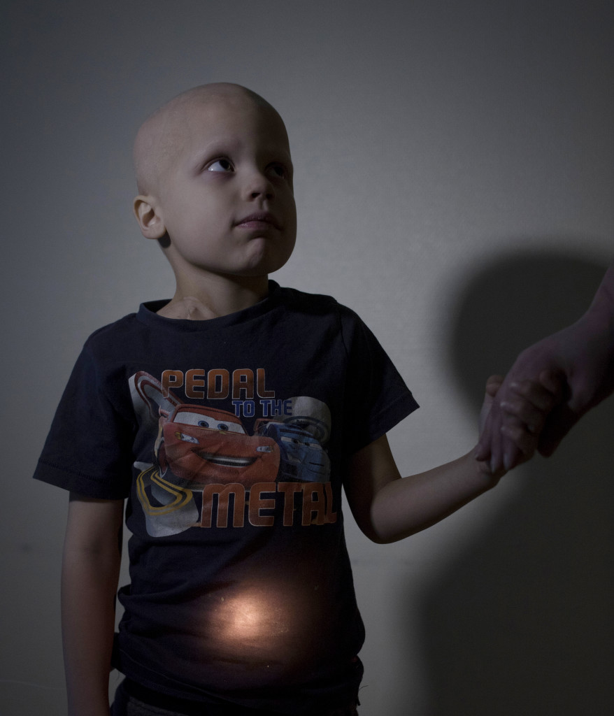 Bildreportage om barncancer.  William Kunstbergs, 6Œr Cancer i nedre delen av magen