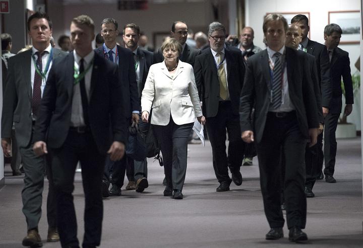 eu:s ministerråd har möte om brexit. angela merkel, politiker tyskland förbundskansler, ministerrådet