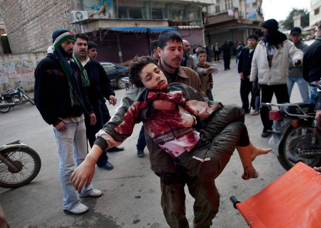 Skarpa uttalanden mot syrien