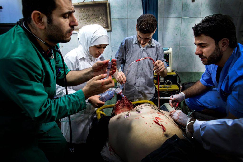 Överläkaren Osman al-Hag på sjukhuset. Foto: NICLAS HAMMARSTRÖM