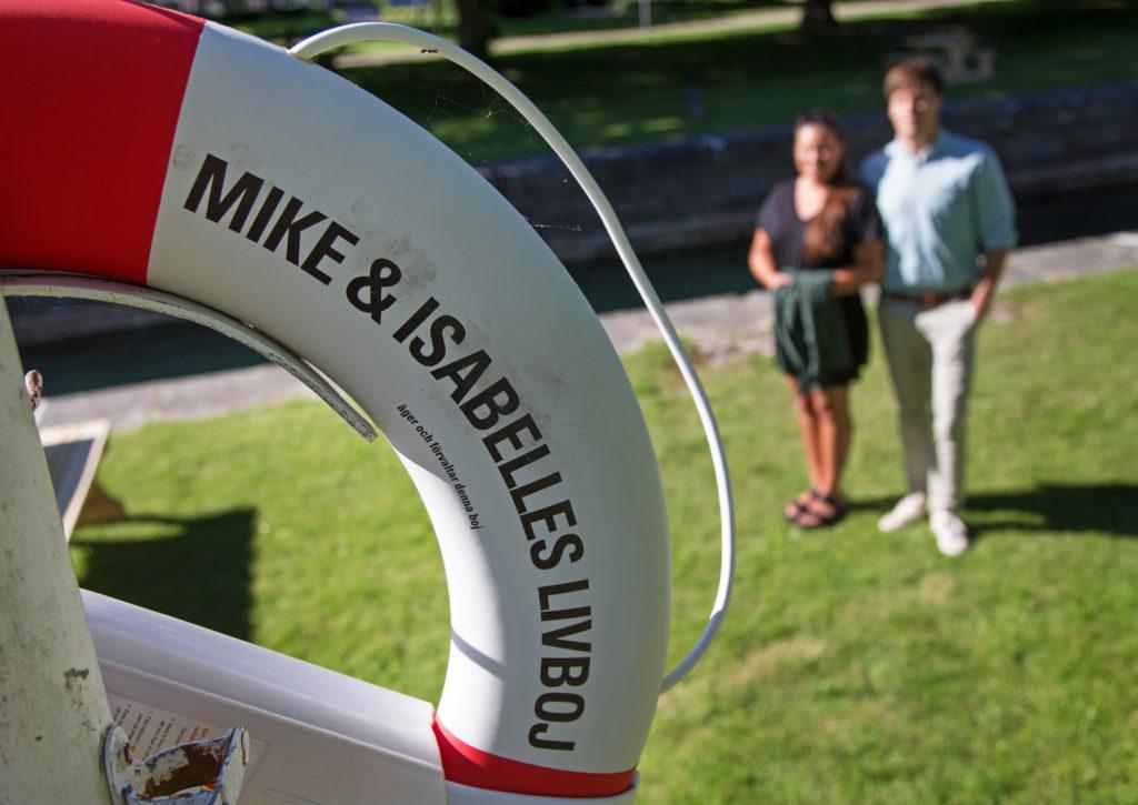 Vid platsen där det hände sitter nu en livboj efter Mikes och Isabelles räddningsinsats. Foto: Jeppe Gustafsson
