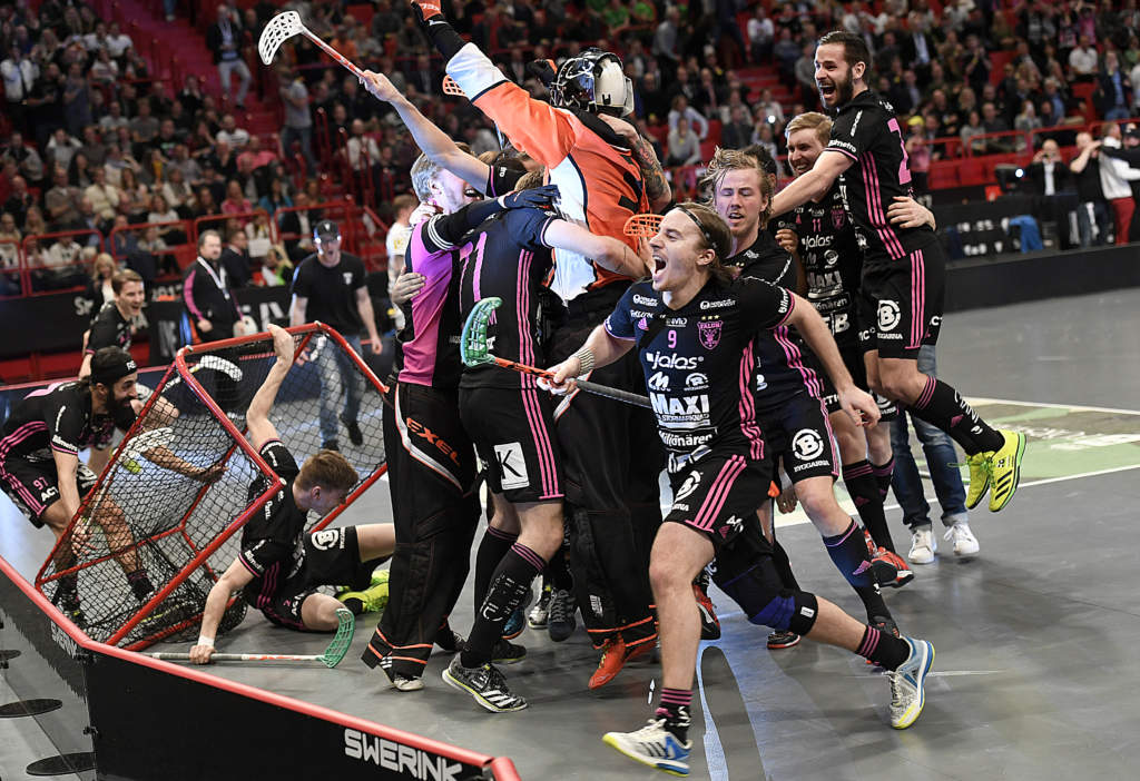 svenska superligan, final. ibf falun och vŠxjš ibk, 5 - 4, match action