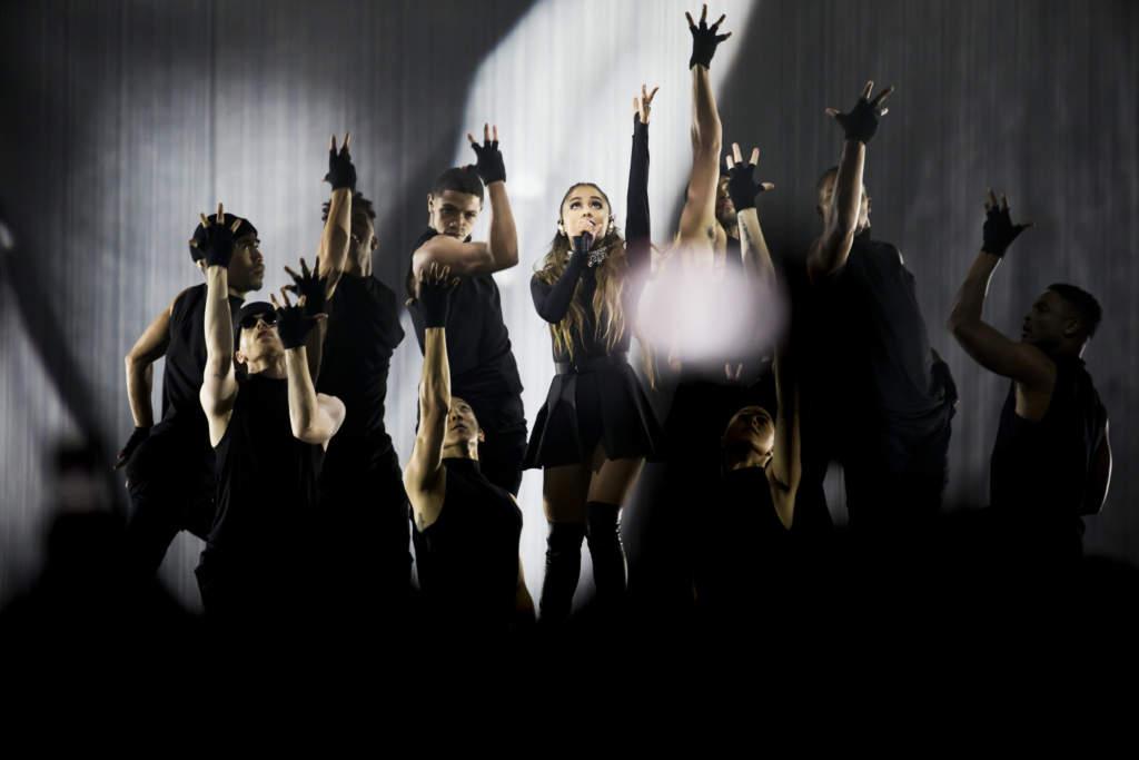 ariana grande, sŒngare usa, har konsert pŒ friends arena, scenbilder. obs!!! endast redaktionell anvŠndning obs!!!!