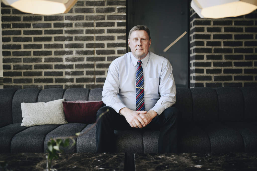 HåŒkan FranzéŽn, hemmets försäkringsexpert påŒ Trygg-Hansa. Foto: Sofia Nahringbauer