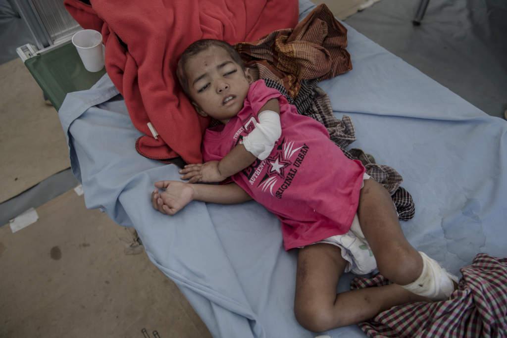 Burmesiska barn i tvangsarbete